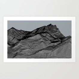 topography of death 1 Art Print