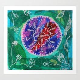 mandala beauty Art Print