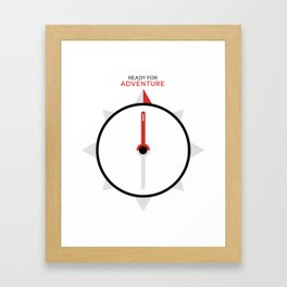 My Compass Points to Adventure Framed Art Print
