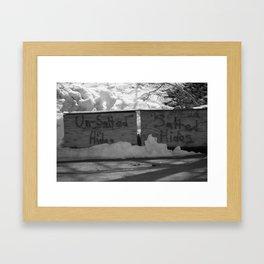 Hides Framed Art Print