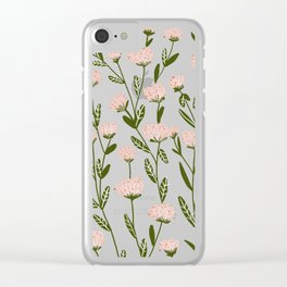 Rose Garden Pattern Clear iPhone Case