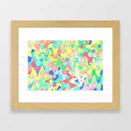 Chaotic vision, vibrant colors and shapes, funny mess Framed Art Print