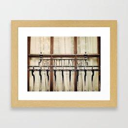 London Grille Framed Art Print
