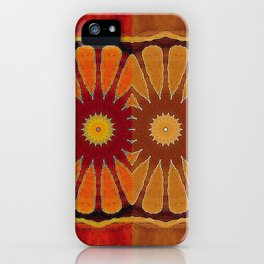 Orange flower pattern daisy iPhone Case
