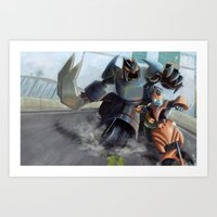 Highway Chase Art Print
