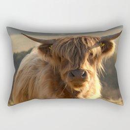 Young Highland Cow Rectangular Pillow