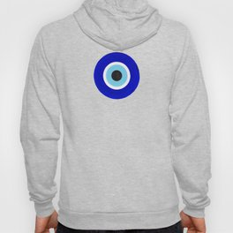 Evil Eye Charms on White Hoody