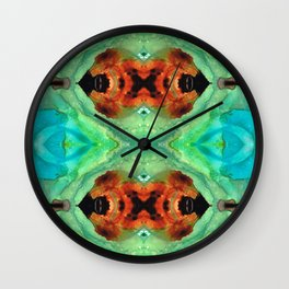Soul Symphony - Abstract Art by Sharon Cummings Wall Clock