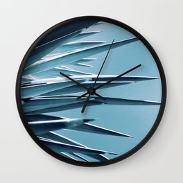 Palm Rays - Duotone Black and Teal Wall Clock