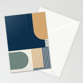 Cool Color Pallette Pattern Stationery Cards