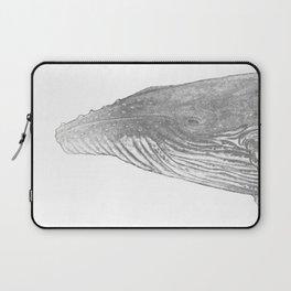 Grey Humpback whale portrait Laptop Sleeve