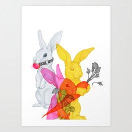 Party Rabbits Art Print