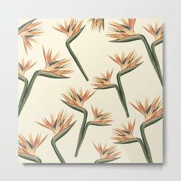 Birds of Paradise Flowers Metal Print