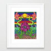 third eye Framed Art Prints featuring third eye by Ichsjah