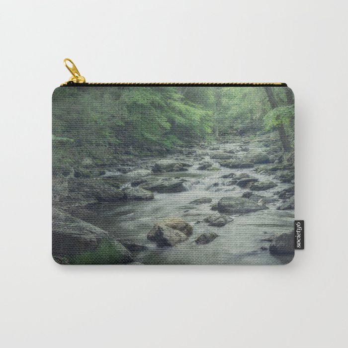 Misty Forest Stream Carry-All Pouch
