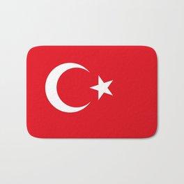 National flag of Turkey, Authentic color & scale Bath Mat