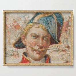 Vintage Stede Bonnet Portrait Illustration (1888) Serving Tray