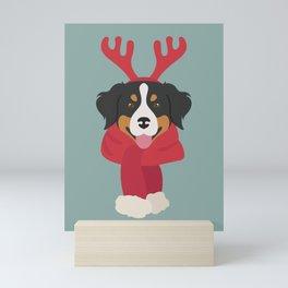 Bernese Mountain Christmas Dog Mini Art Print