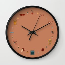 Budapest Hotel Plot Pattern Wall Clock