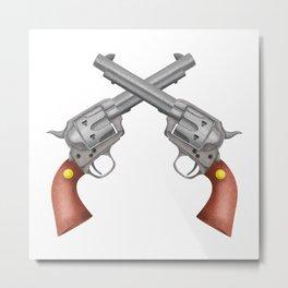 Pistols Metal Print