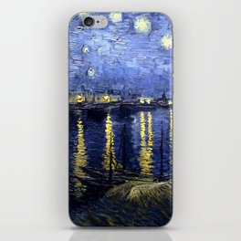 """Vincent Van Gogh """"Starry Night Over the Rhone"""" iPhone Skin"""