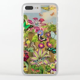 Butterfly Garden Clear iPhone Case