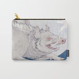 White boar Carry-All Pouch