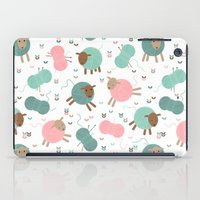 knitting iPad Cases featuring Knitting sheep by Heleen van Buul