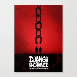 Django Unchained - Minimal Movie Poster. A Film by Quentin Tarantino. Canvas Print