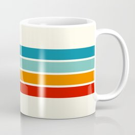 Colored Retro Stripes Coffee Mug