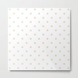 Polka Dots Pattern: Light Beige Metal Print