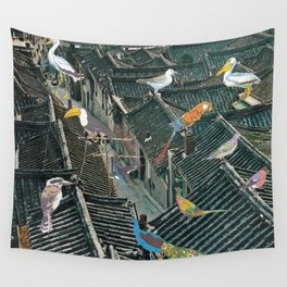 Bird Town Wall Tapestry