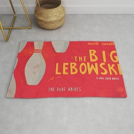 The Big Lebowski - Movie Poster, Coen brothers film, Jeff Bridges, John Turturro, bowling Rug