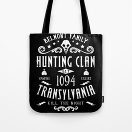 Geeky Gamer Chic Castlevania Inspired Belmont Family Hunting Clan Tote Bag