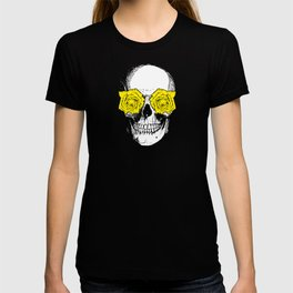 Skull and Roses | Grey and Yellow T-shirt