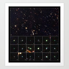 Hubble Space Telescope - Tiny galaxies brimming with star birth Art Print