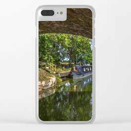 Under The Bridge At Pewsey Wharf Clear iPhone Case