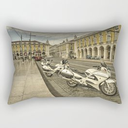 Lisbon Police Bikes  Rectangular Pillow