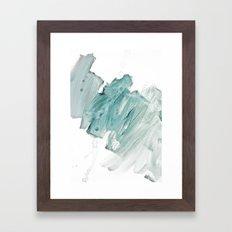 brushstrokes 11 aquamarine Framed Art Print