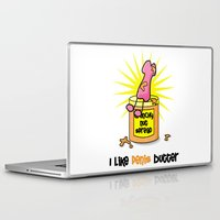 penis Laptop & iPad Skins featuring I Like Penis Butter by David Cuschieri
