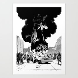 Lady of Flame Art Print
