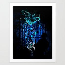 In the Keynote of Blue Art Print