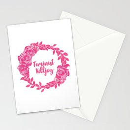 Feminist Killjoy with Beautiful Pink Florals Stationery Cards