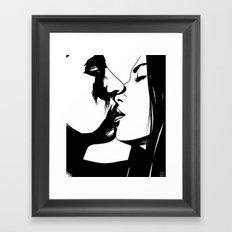 Couple Kissing Framed Art Print