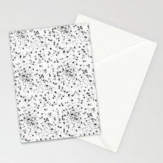 Speckled black and white Stationery Cards