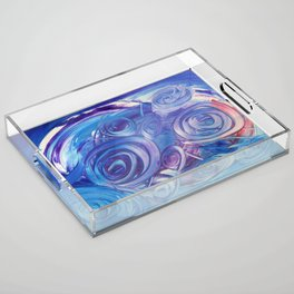 In Circles Acrylic Tray