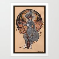witch Art Prints featuring Witch by Fyodor Pavlov
