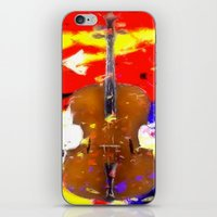 cello iPhone & iPod Skins featuring Mellow Cello by Brian Raggatt