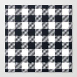 Large Black & White Vichy Canvas Print