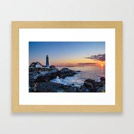 Portland lighthouse Framed Art Print